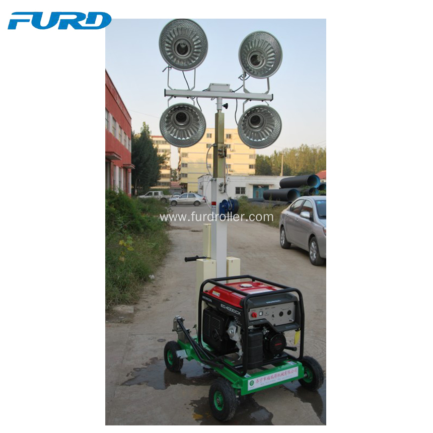 Portable Light Tower Price: Telescopic Generator Mobile Light Tower For Outdoor China