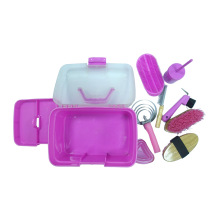 Plastic Horse Grooming Box Pink