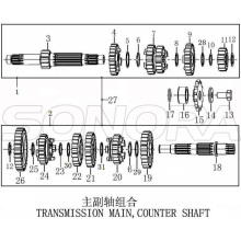 Transmission Main Counter Shaft Zongshen NC250 Engine Kayo BSE Xmotos Apollo Original Parts