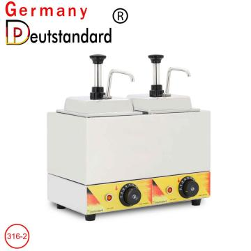 Electric Double head sauce warmer machine