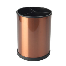 3 Divided Cutlery Storage Holder With Copper Plated