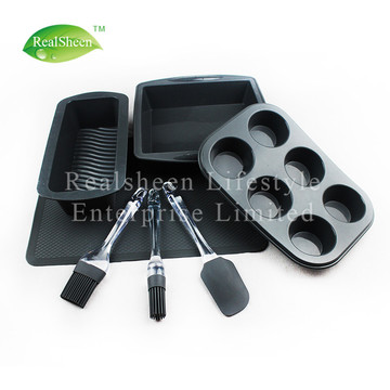 7 Piece High Quantity Silicone Bakeware Set