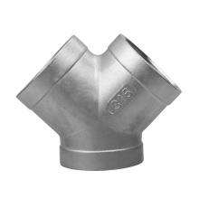 stainless steel casting fitting Y type tee