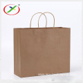 In stock grocery brown flat handle paper bag