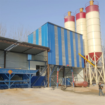 HZS50 control construction mini concrete batching plants
