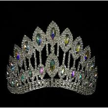 AB Stone Curve Adjustable Band Pageant Crown