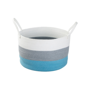 Customized cotton rope woven laundry basket