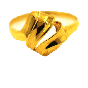 Ribbon 18 K Gold Ring Yellow Gold