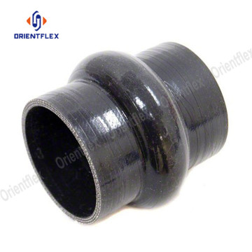 Straight hump silicone rubber pipe