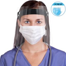 Protective Transparent Adjustable direction office face shield