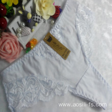 OEM wholesale China white sexy thong comfortable lace elastic fancy underwear 1123