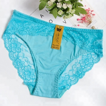 Ultra Thin Breathable Women Wearing Satin Panties