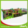 Indoor playground with free jumping tunnel