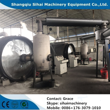 scrap tyre refining to oil machine