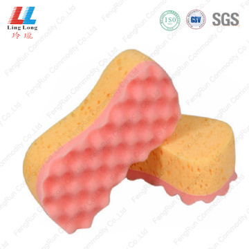 customized pink car cleaning sponge