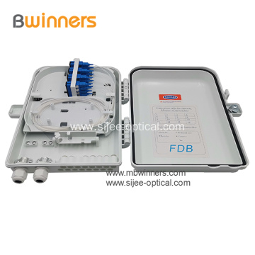 IP65 Waterproof  1x16 PLC Splitter Fiber Optic Plastic Distribution Box