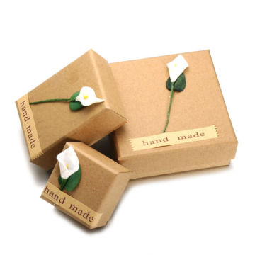 Kraft Paper Custom Jewelry Gift Ring Package Box