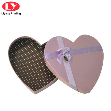 Custom Pink Heart Paper Packaging Chocolate Box
