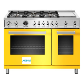 48in All-Gas Range 6 Brass Burner and Griddle