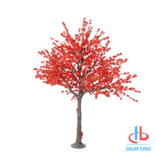 Artificial Red Peach Blossom Tree