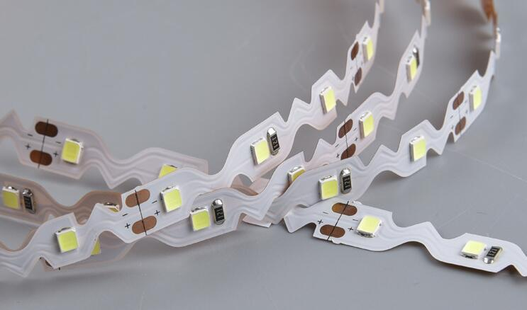 NW WW S shape SMD2835 LED strip