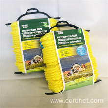 6mm Yellow Twist PP rope with low price