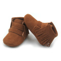 Brown Genuine Leather Shoes Baby Oxford Boots