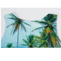 Coconut tree print sleeveless vest