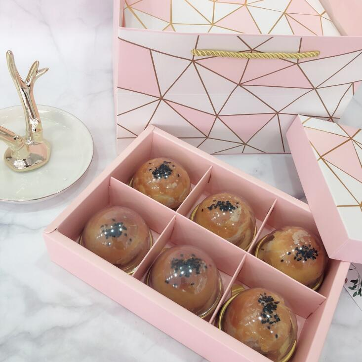 Pink bakery cookie gift boxes