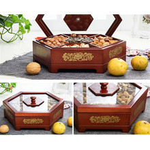 factory customized for Large Wooden Box Chinese Style Antique Wooden Dried Fruit Box export to Paraguay Factory