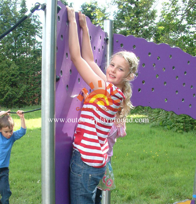 steel panel climber wall for kids