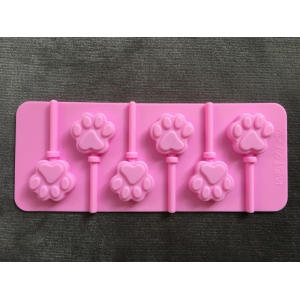 Bear paw lollipop chocolate silicone cartoon mold tool