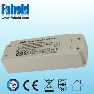 China for 350Ma Led Driver 30W 700mA Triac Dimming Led Downlights Driver supply to Germany Manufacturer