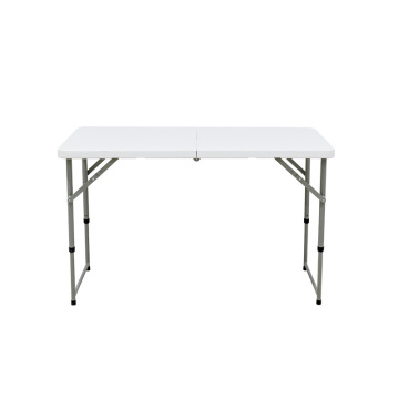 4 Foot Fold in half Adjustable Folding Table