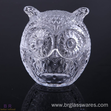 Cheap for Large Candle Jars Copper Owl Shape Glass Candle Jar supply to Mauritania Manufacturers