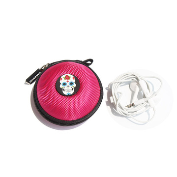 Hardshell custom zipper earphone case