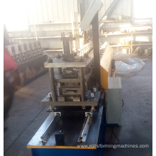 Steel roller shutter door frame roll forming machine