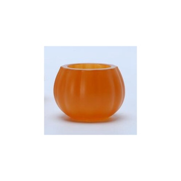 Glass Pumpkin Tealight for Halloween