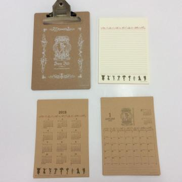 western retro calendar writing paper set