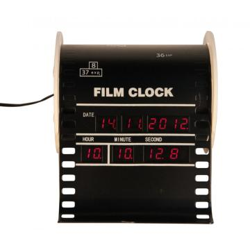 Metal Film Alarm Digital Clock on Desk
