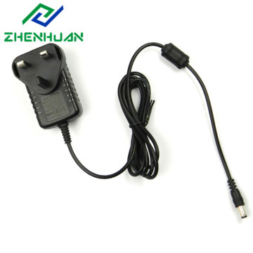 UK Blade 9V 1A Plug Adapter Power Supply