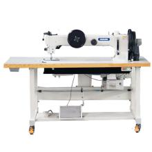 Long Arm Flat Bed Compound Feed Walking Foot Heavy Duty Lockstitch Sewing Machine