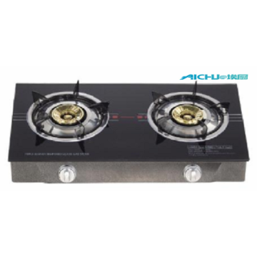 Black Glass Top Table Gas Cooker