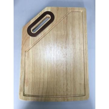 wooden cutting board with juice groove