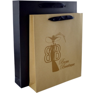 customized 170gsm Brown Kraft Paper Bag