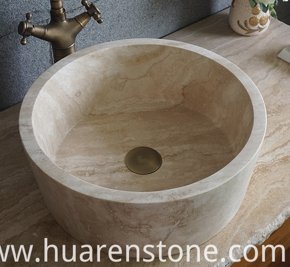 travertine sink
