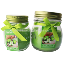New Fashion Design for Candle In Clear Glass Jar scented glass candle with glass jar supply to Japan Suppliers