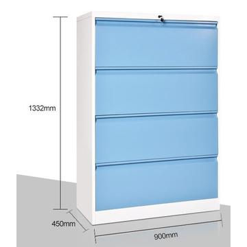 Lateral Steel 4 Drawers File Cabinet