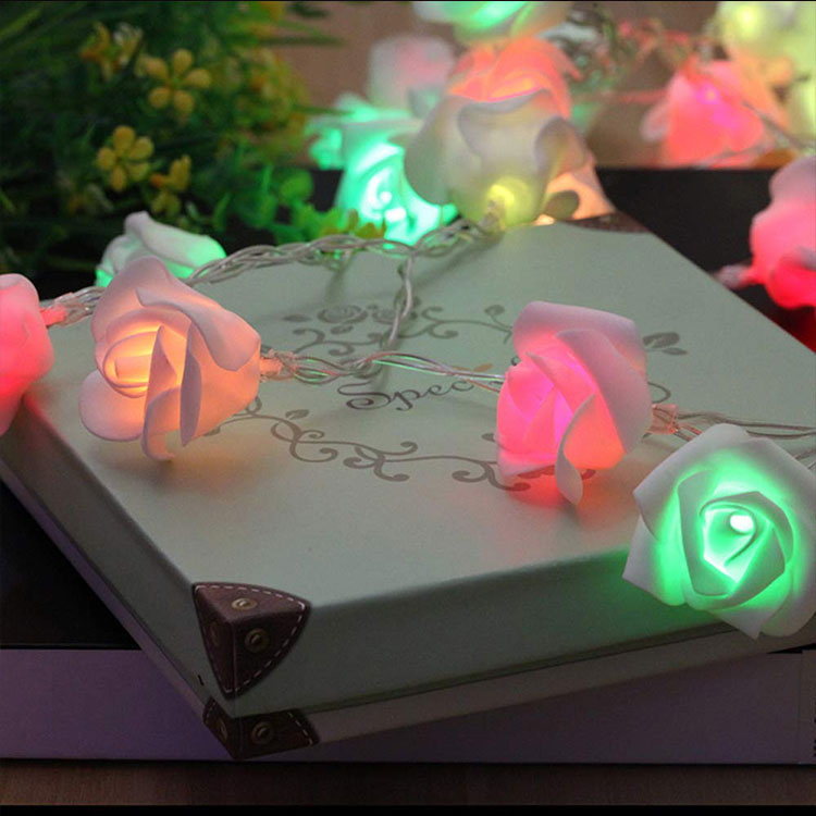 plastic flower string lights