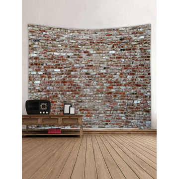 Brick Wall Tapestry Red Stone Tapestry Wall Hanging Vintage Tapestry Polyester Print for Livingroom Bedroom Home Dorm Decor